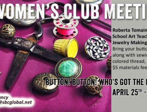 Women's Club Event Tuesday, April 25th